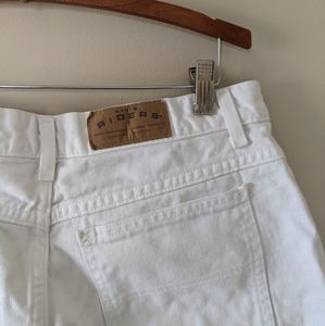 Lee by Riders White Denium High Waisted Shorts